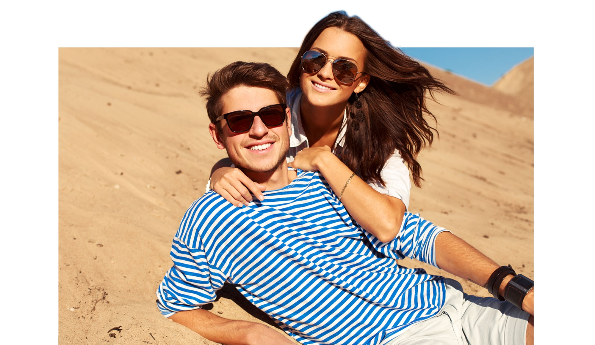 man woman sunglasses