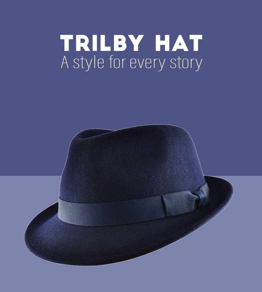 Mens Trilby Hat Fedora
