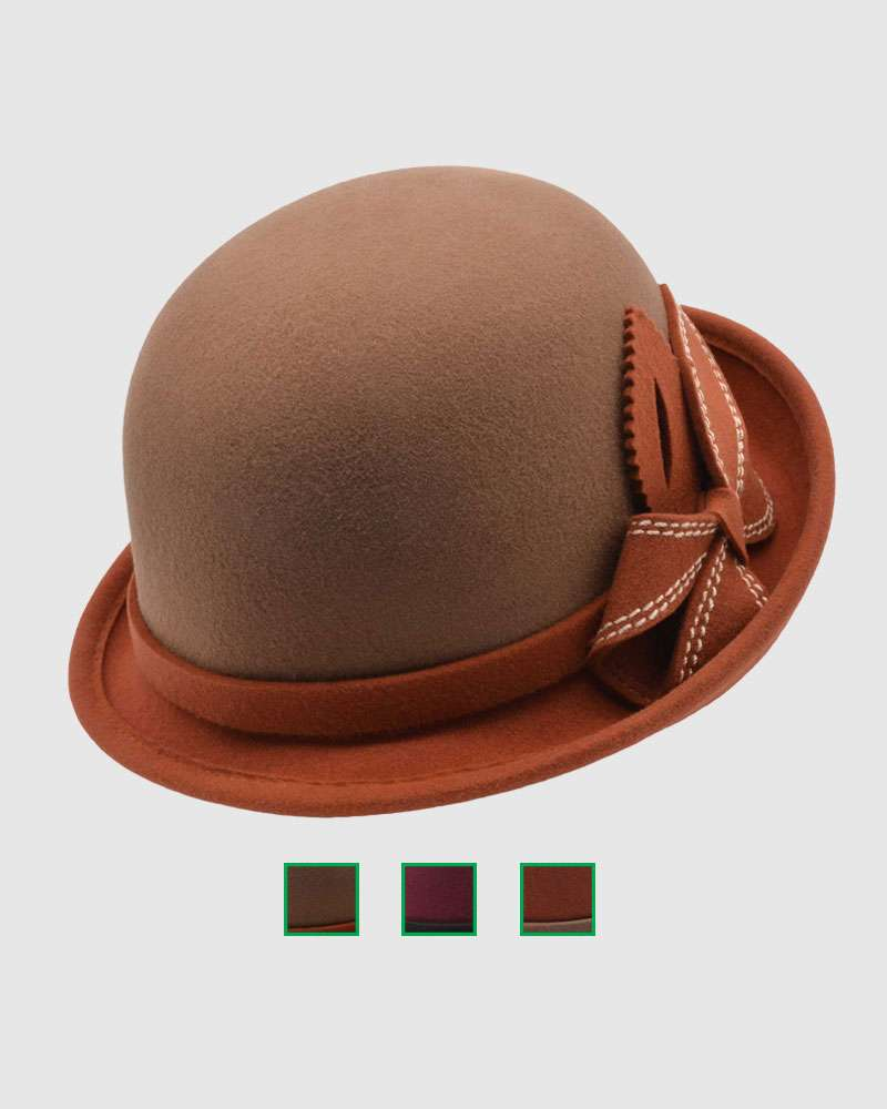 Womens Cloche Hat - Wool Felt