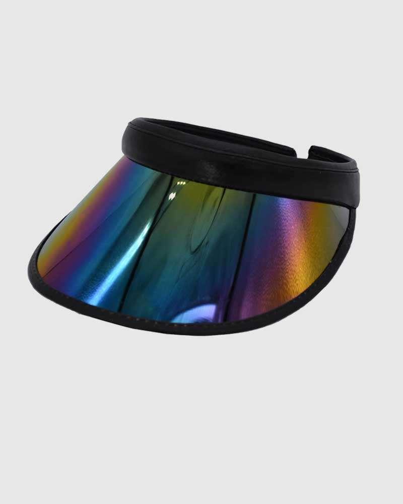 iHATS Visor Sun Caps low Crown reflective Hats -Black