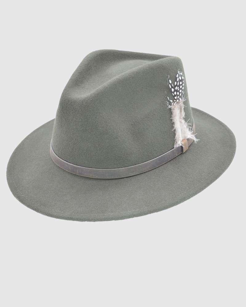 Handmade Chocolate Brown Fedora Hat - Wool Felt