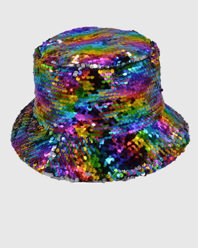 Glitter Bucket Hat - Multi Colour