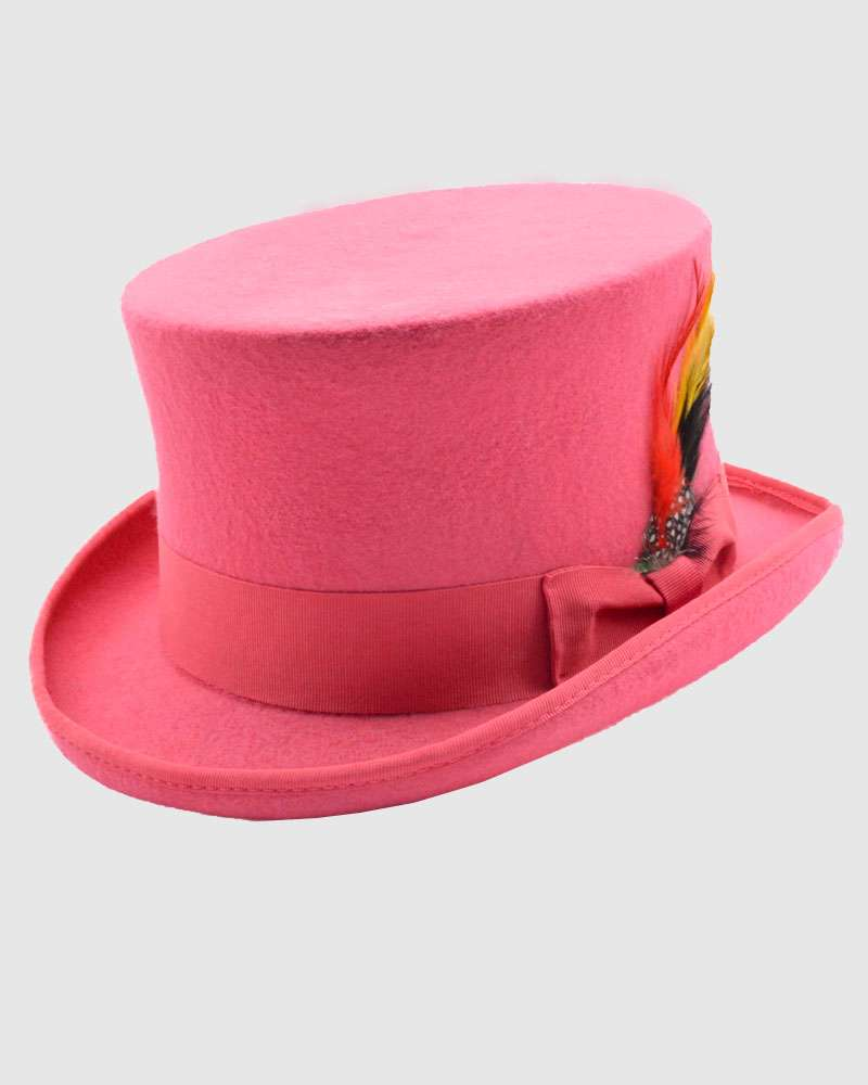 Wool Felt Top Hat- Pink