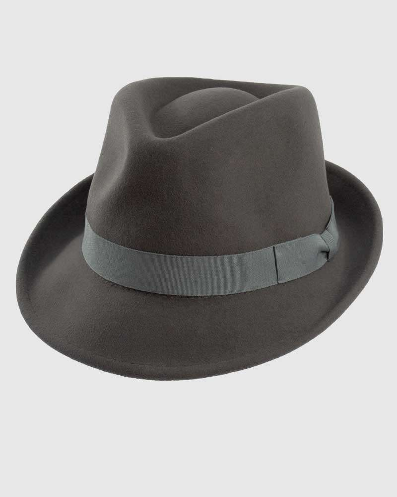 Trilby Fedora Hat Gangster – Grey