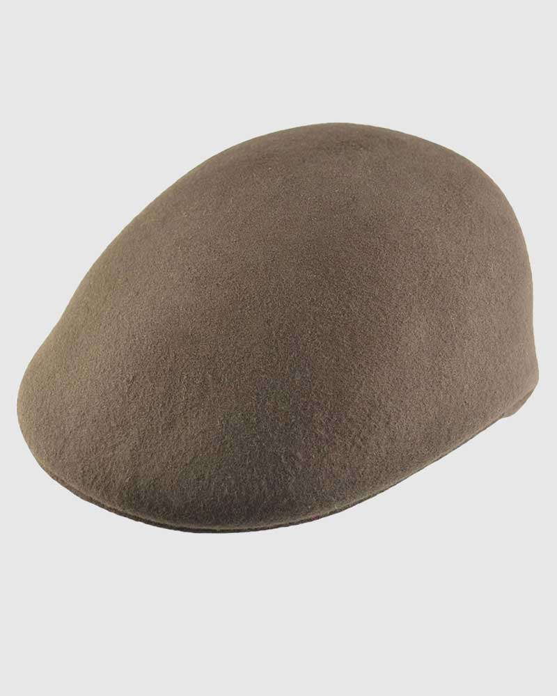 Flat Ascot Hat -Brown