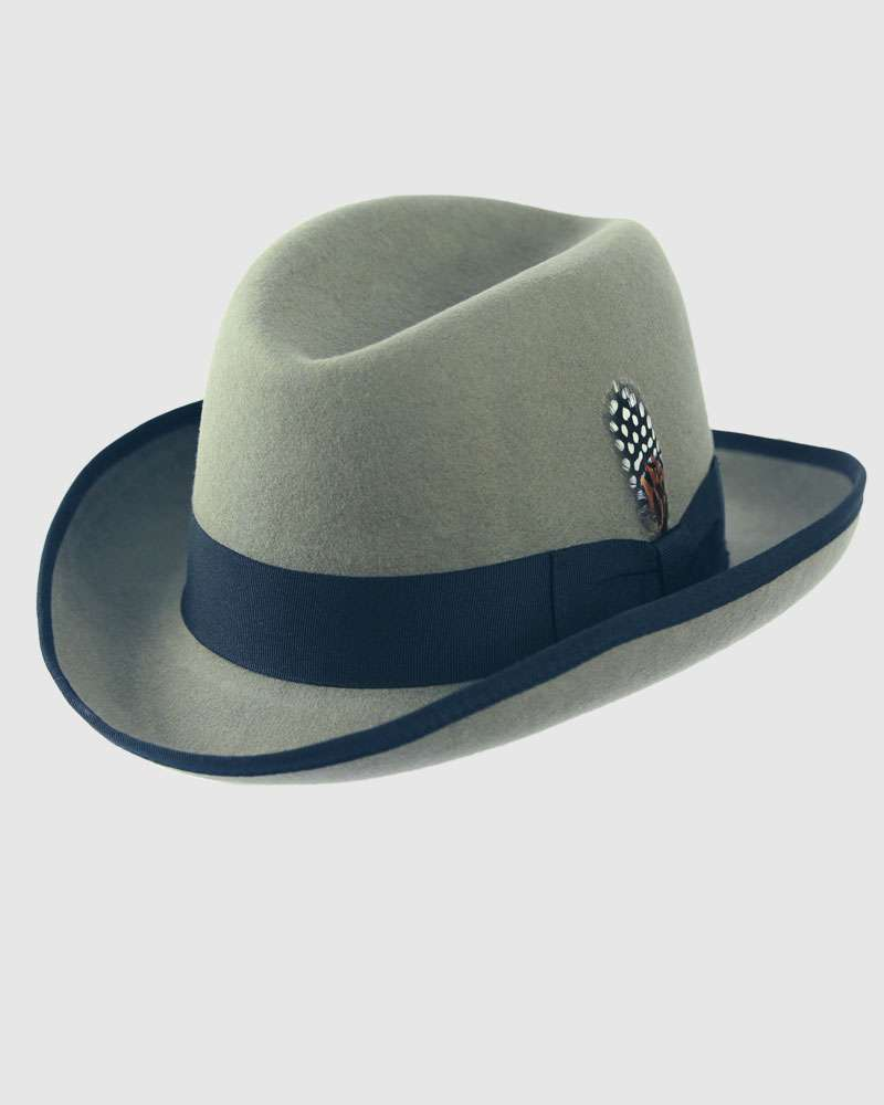 The Classic Homburg Hat - Light Grey