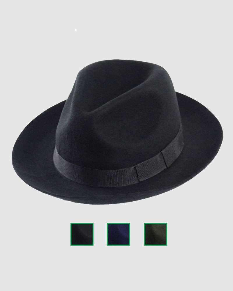 Wool Felt Trilby Fedora Hat - Many Colours