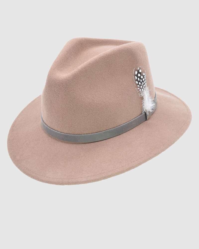 Handmade Brown Fedora Hat - Wool Felt